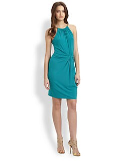 MICHAEL MICHAEL KORS - Halter Twist-Front Dress