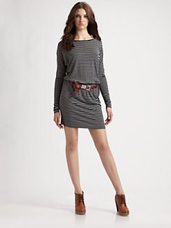 MICHAEL MICHAEL KORS - Striped Dolman Sleeve Dress