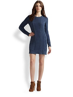 MICHAEL MICHAEL KORS - Crewneck Fisherman Mini  Dress