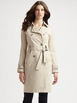 MICHAEL MICHAEL KORS - Chino Sateen Trenchcoat