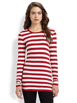 MICHAEL MICHAEL KORS - Striped Crewneck Top