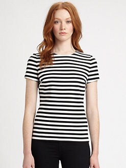 MICHAEL MICHAEL KORS - Striped Ponte Top