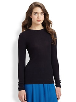 MICHAEL MICHAEL KORS - Ribbed Crewneck Top