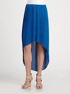 MICHAEL MICHAEL KORS - Pleated Hi-Lo Skirt