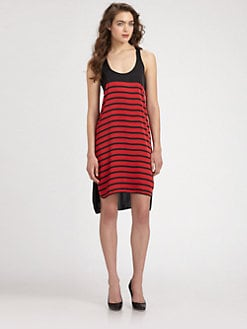 MICHAEL MICHAEL KORS - Striped-Front Tank Dress