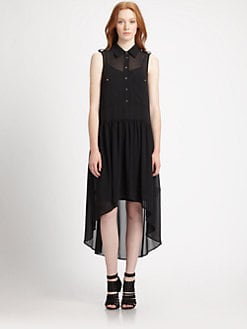 MICHAEL MICHAEL KORS - Chiffon Hi-Lo Shirtdress