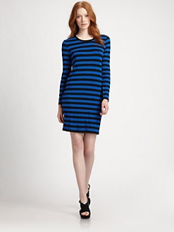 MICHAEL MICHAEL KORS - Striped Crewneck Dress
