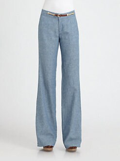 MICHAEL MICHAEL KORS - Chambray Wide-Leg Pants