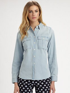 MICHAEL MICHAEL KORS - Cotton Denim Shirt