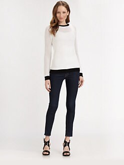 MICHAEL MICHAEL KORS - Colorblock Mesh Sweater