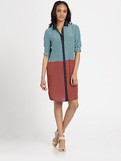 MICHAEL MICHAEL KORS - Printed Colorblock Shirtdress