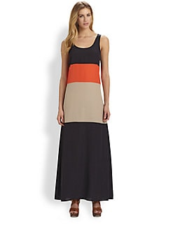 MICHAEL MICHAEL KORS - Colorblock Maxi Tank Dress