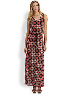 MICHAEL MICHAEL KORS - Soho Square-Print Maxi Dress