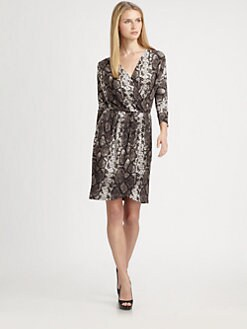 MICHAEL MICHAEL KORS - Printed Faux-Wrap Dress