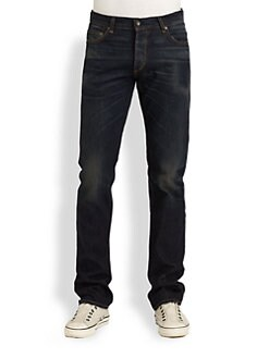 Rag & Bone - Distressed Five-Pocket Jeans