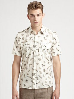 McQ Alexander McQueen - Skeleton Print Sportshirt