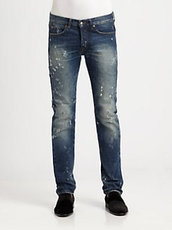 McQ Alexander McQueen - Distressed Denim Jeans