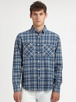 Rag & Bone - Two-Pocket Plaid Sportshirt