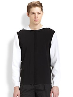 T by Alexander Wang - Stripe Intarsia Hoodie