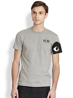 Comme des Garcons Play - Dyed Cotton Graphic Tee