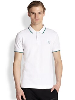 McQ Alexander McQueen - Embroidered Insignia Cotton Polo Shirt