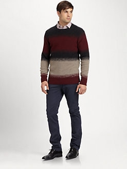 Yigal Azrouel - Felted Wool Stripe Knit Sweater