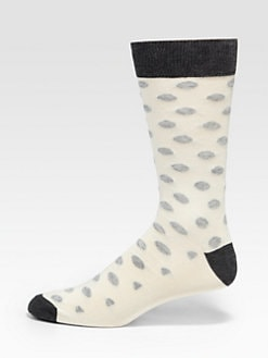 Saks Fifth Avenue Men's Collection - Dot-Print Socks