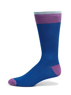 Saks Fifth Avenue Men's Collection - Stretch Cotton Socks