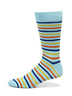 Saks Fifth Avenue Men's Collection - Multistriped Socks