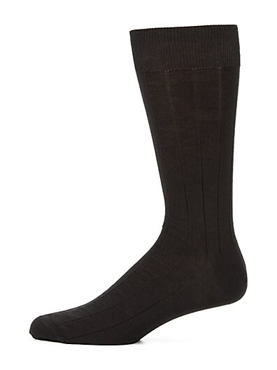 Stretch-Wool Dress Socks