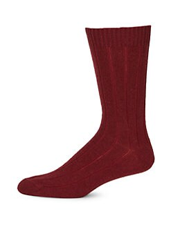 Saks Fifth Avenue Men's Collection - Solid Cashmere Socks