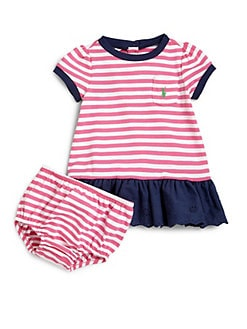 Ralph Lauren - Infant's Two-Piece Striped Dress & Bloomers Set