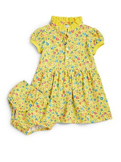 Ralph Lauren - Infant's Two-Piece Floral Polo Dress & Bloomers Set