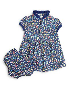Ralph Lauren - Infant's Two-Piece Polo Floral Print Dress & Bloomers Set