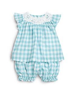 Ralph Lauren - Infant's Two-Piece Gingham Top & Bloomers Set/12-24 mo.