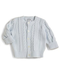 Ralph Lauren - Infant's Mercerized Cotton Cardigan/Blue