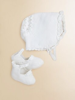 Ralph Lauren - Infant's Bonnet & Booties Set