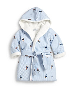 Ralph Lauren - Infant's Bear Print Terry Bathrobe