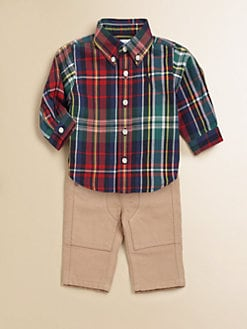 Ralph Lauren - Layette's Plaid Shirt & Pants Set