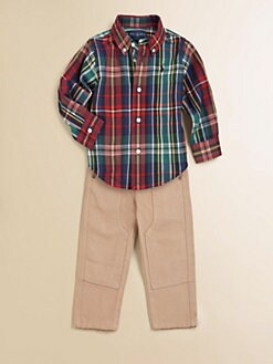Ralph Lauren - Infant's Plaid Shirt & Pants Set