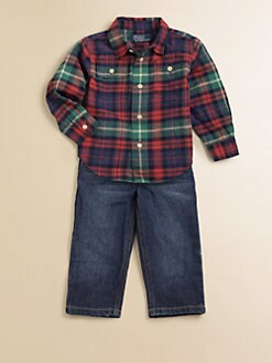Ralph Lauren - Infant's Plaid Shirt & Jeans Set