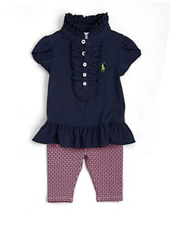 Ralph Lauren - Infant's Ruffled Tunic & Foulard-Printed Leggings Set