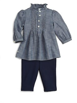 Ralph Lauren - Layette's Two-Piece Chambray Tunic & Leggings Set