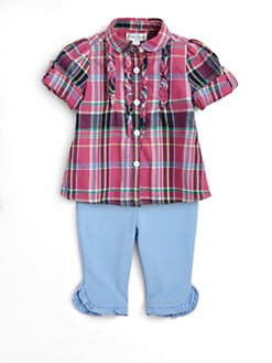 Ralph Lauren - Infant's Plaid Tunic & Leggings Set