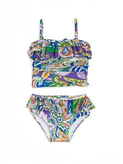 Ralph Lauren - Infant's Ruffled Paisley Two-Piece Tankini Swimsuit Set