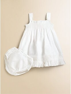 Ralph Lauren - Infant's Smocked Dress & Bloomers Set