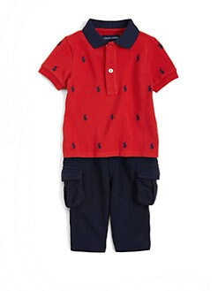 Ralph Lauren - Infant's Two-Piece Polo Shirt & Fleece Pants Set