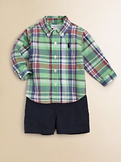 Ralph Lauren - Infant's Plaid Shirt & Shorts Set