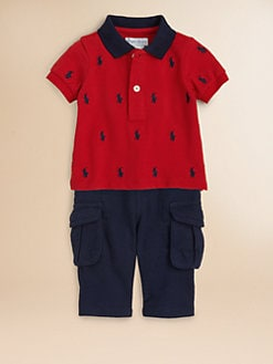 Ralph Lauren - Infant's Two-Piece Mesh Polo Shirt & Fleece Pants Set