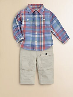 Ralph Lauren - Infant's Plaid Shirt & Twill Pants Set